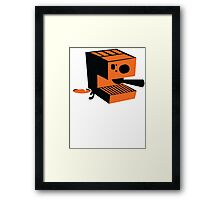 Trendy barrista Italian Coffee machine with a cup of coffee Framed Print
