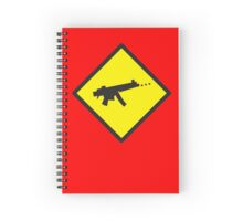 Beware Digital GAMER crossing design Spiral Notebook