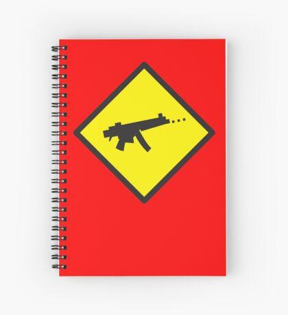 Beware Digital GAMER crossing design Spiral Notebook