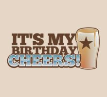 It's my BIRTHDAY CHHERS! beer pint and STAR by jazzydevil
