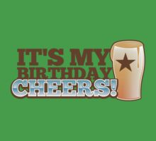 It's my BIRTHDAY CHHERS! beer pint and STAR Kids Clothes