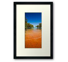 Blue Sky, Red Sand Framed Print
