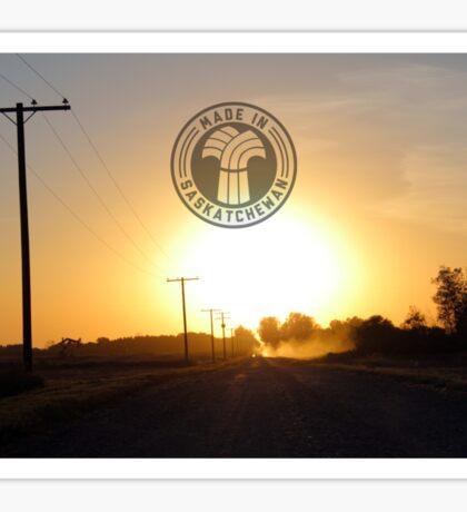 Grid Road Sunset Sticker