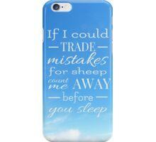 Trade Mistakes Lyrics (Panic! At The Disco) iPhone Case/Skin