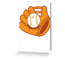 Baseball mit with a baseball star ball Greeting Card