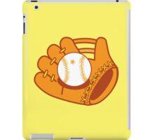 Baseball mit with a baseball star ball iPad Case/Skin