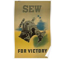 WPA United States Government Work Project Administration Poster 0684 Sew For Victory Poster