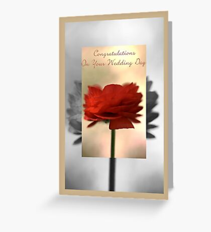Congratulations On Your Wedding Day - Card Greeting Card