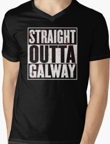Straight Outta Galway Mens V-Neck T-Shirt