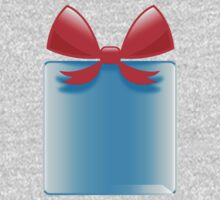 Blue gift or present with a red bow One Piece - Long Sleeve