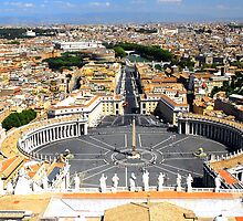 Aerial View of Vatican City by pacian