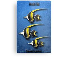 Moorish Idol  The Metal Aquarium Metal Print