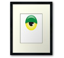 Big Green and yellow EYE Framed Print
