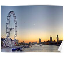 Thames Sunset Poster