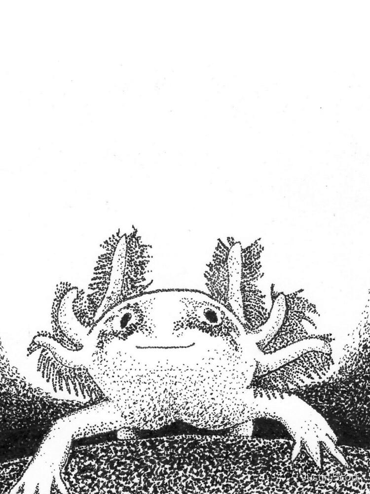 Stippled Axolotl by Lurtze