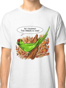 Talking green ringneck parrot Classic T-Shirt