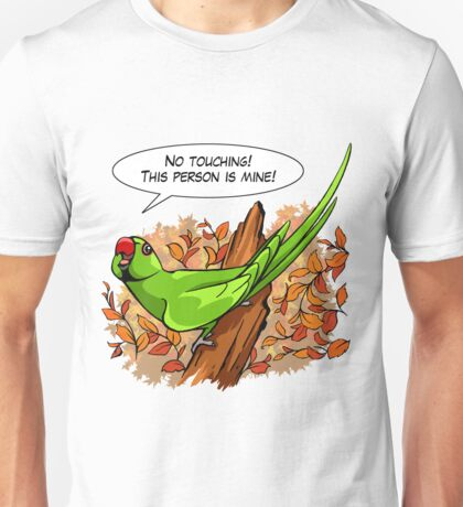 Talking green ringneck parrot Unisex T-Shirt