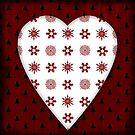 Christmas Heart - PRINT by Sybille Sterk
