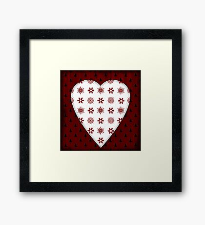 Christmas Heart - PRINT Framed Print