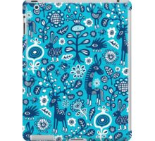 On high Heels Deer in blue iPad Case/Skin