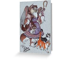 The Cat Herder Greeting Card