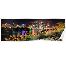 Brisbane City Panorama Poster