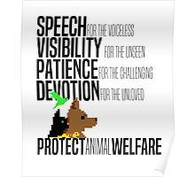 Protect Animal Welfare (black text) Poster