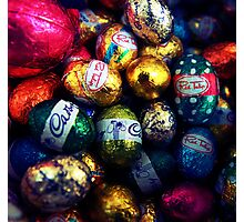 Lots and Lots of Easter Eggs In a Bucket Photographic Print
