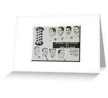 Barber Shop Hair Styles Greeting Card