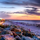 Sunset Over Henley Beach - Panorama by Shannon Rogers