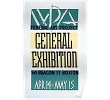 WPA United States Government Work Project Administration Poster 0263 Federal Art Project General Exposition Poster