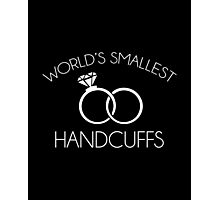 World's Smallest Handcuffs Photographic Print