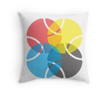Four Balls Throw Pillow