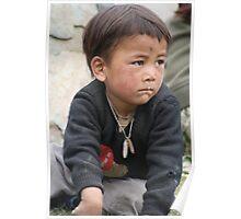 Young nomad boy - India Himalaya Poster