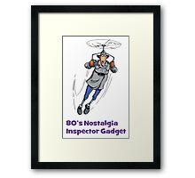 80's Nostalgia Cartoon Inspector Gadget T-Shirt Framed Print