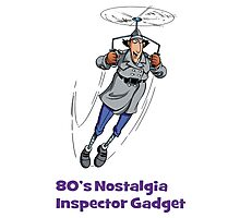 80's Nostalgia Cartoon Inspector Gadget T-Shirt Photographic Print