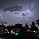 Lightning over Jeddah by Graham Taylor