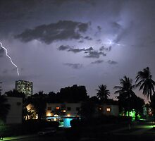 Lightning over Jeddah by Graham Taylor