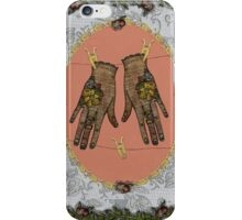 Pegged Hands iPhone Case/Skin