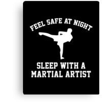 Sleep With A Martial Artist Canvas Print