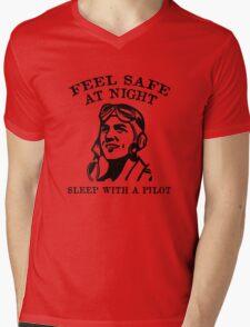 Sleep With A Pilot Mens V-Neck T-Shirt