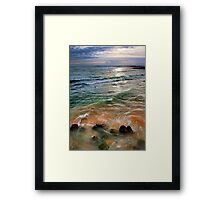 sand and sea love Framed Print