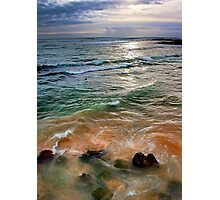 sand and sea love Photographic Print