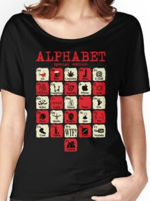Alphabet Women's Relaxed Fit T-Shirt