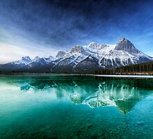 Canadian Rockies and green relection at Canmore by grcav