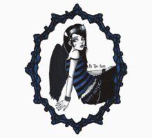 Framed Dark Lil' Angel by Tyler Smith