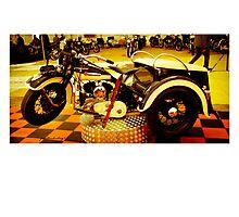 Harley Davidson  Vintage Photographic Print