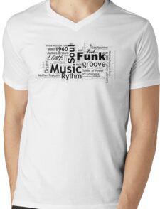 FUNK CLOUD Mens V-Neck T-Shirt