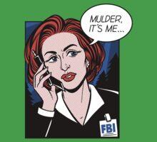 FBI Agent // Scully XFiles Lichtenstein  Kids Tee