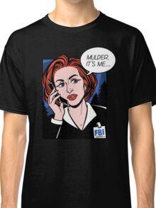 FBI Agent // Scully XFiles Lichtenstein  Classic T-Shirt